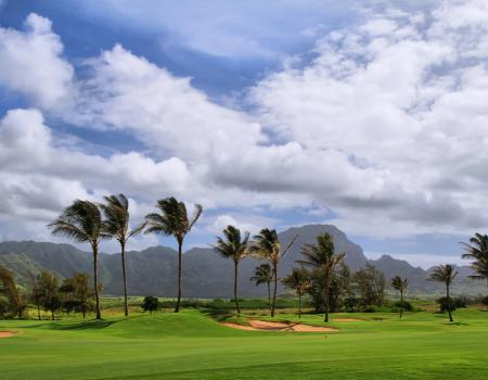 Golf Course near Poipu on Kauai